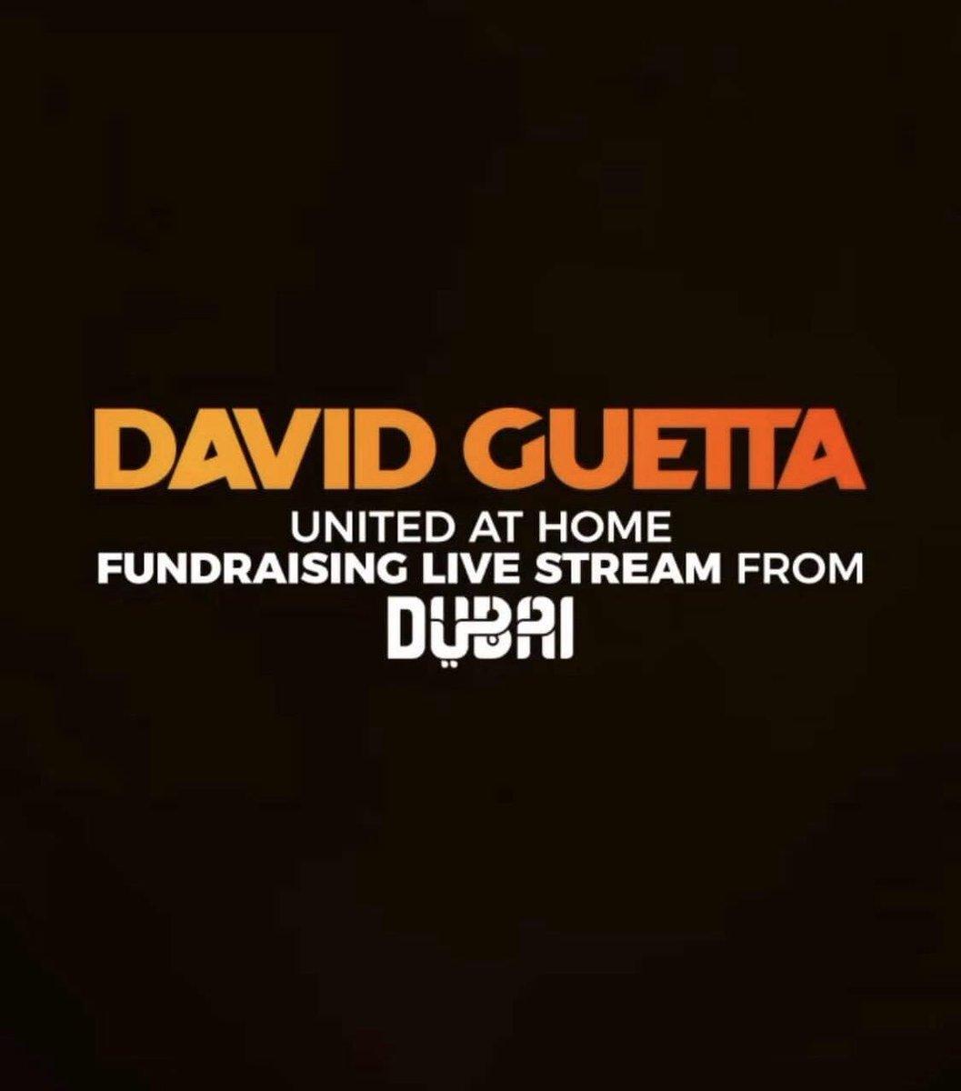 Après Miami, New-York et Paris, @DavidGuetta dévoilera un nouveau show #UnitedAtHome à... Dubai 🤩