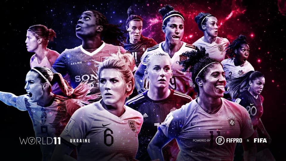 Жіноча символічна збірна світу FIFA FIFPRO World 11 20/21 за версією українських гравців Дякуємо всім гравцям, які взяли участь у опитуванні! 🤝 #World11
