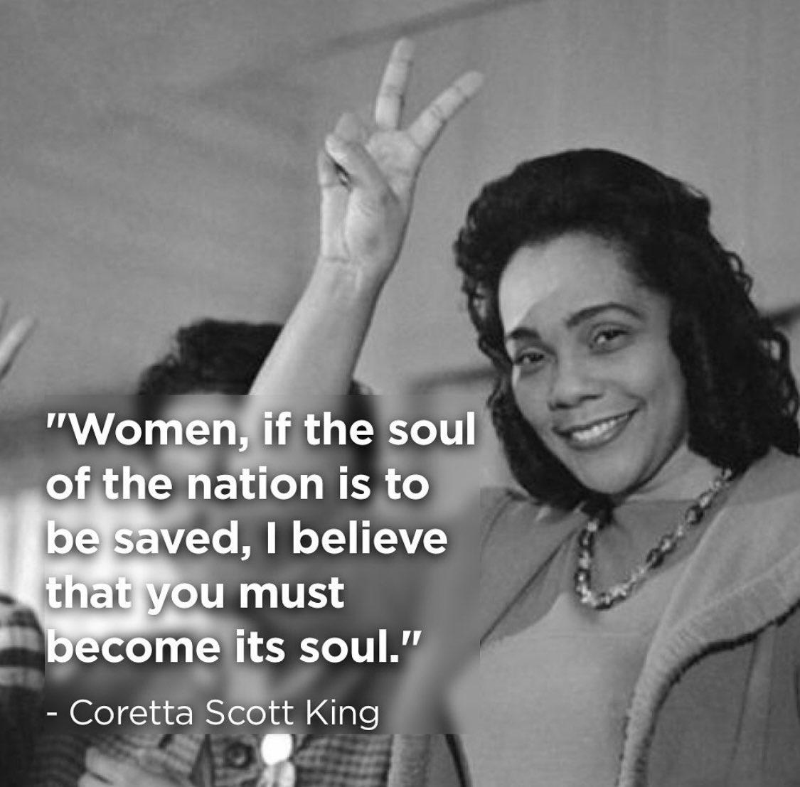 Coretta Scott King, a lifelong freedom fighter. #CorettaScottKing #MLKJr