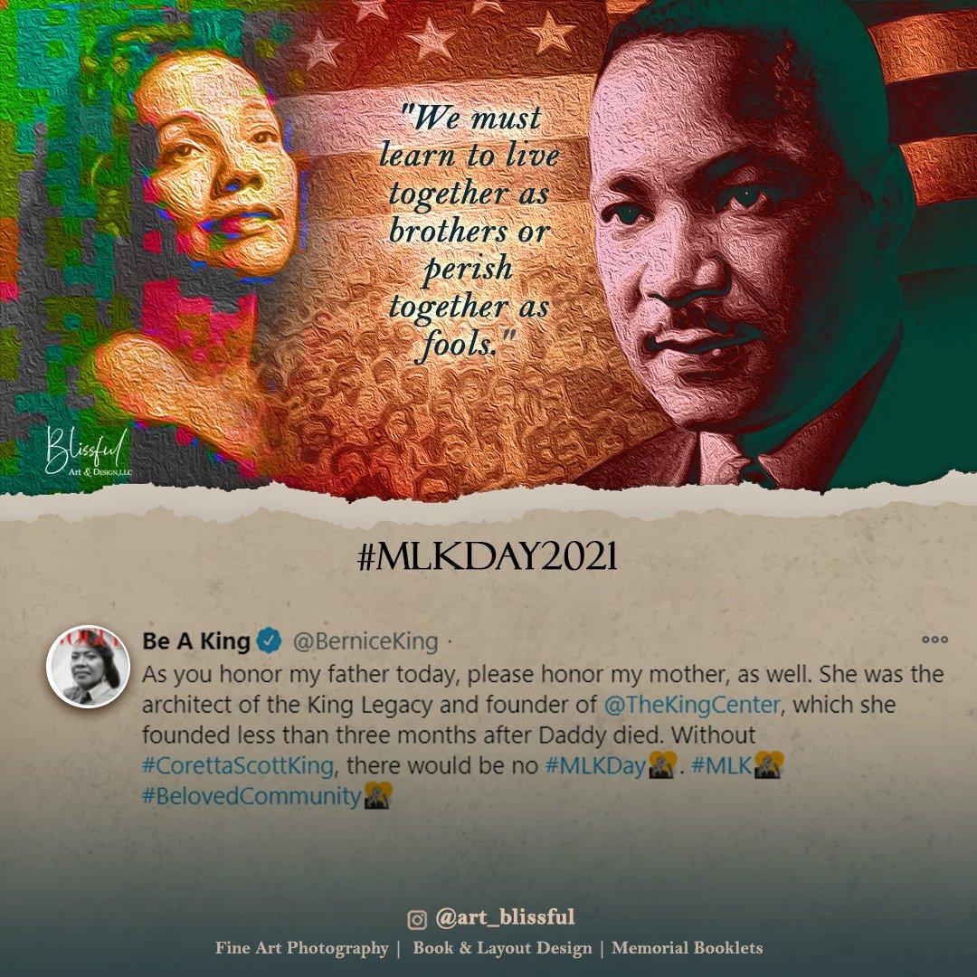 Well Said @BerniceKing ❤ .... #MLKDay #MartinLutherKingDay #MondayMotivation #MondayMood #CorettaScottKing #KingDay #Creative #BlackLivesMatter #BlackTwitter