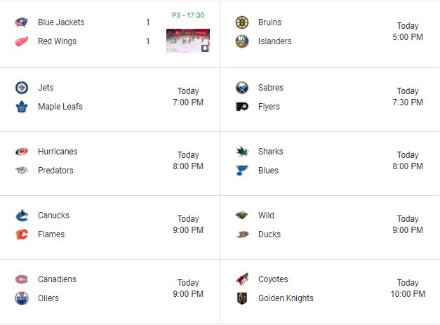🥅🏒 | Monday 1/18  #NHL #HockeyTwitter   #CBJ #Isles #LeafsForever #AnytimeAnywhere #LetsGoCanes  #stlblues #Canucks #mnwild  #GoHabsGo  #VegasBorn