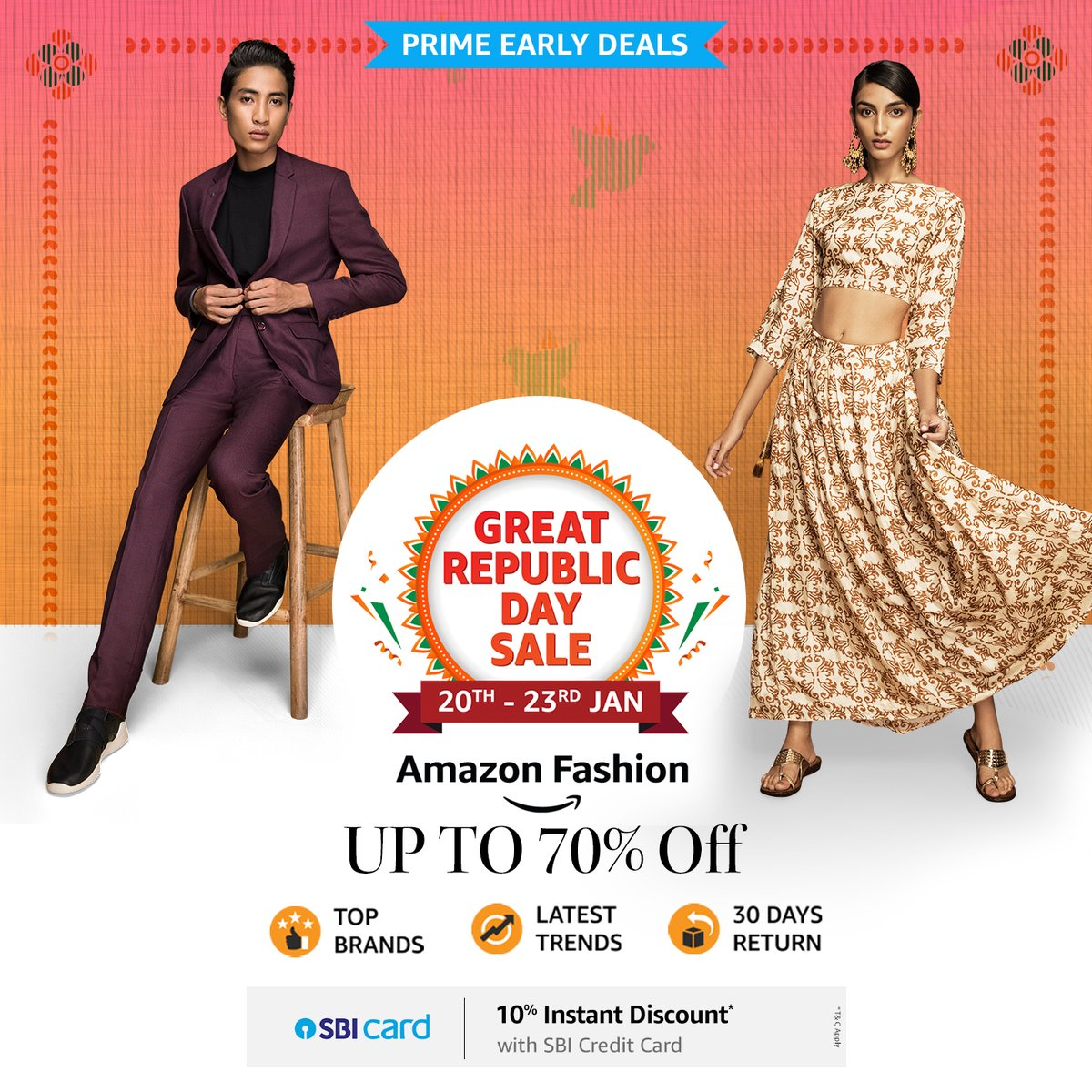 Are you a #PrimeMember? Well, good news... you can now access prime early deals at the #AmazonGreatRepublicDaySale! So hurry & start shopping:  . . #AmazonPrime #PrimeEarlyAccess #NewBeginningBigSavings #Sale #AmazonFashion #AmazonBeauty #HarPalFashionable
