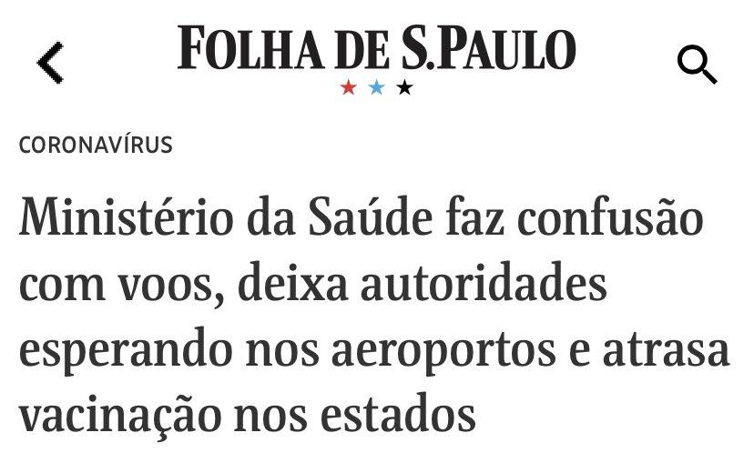 O amadorismo do Governo Bolsonaro é desesperador! Depois do fiasco com a Índia, Pazuello dá novo vexame logístico com a distribuição de vacinas nos estados. Vacina para desgoverno é impeachment!