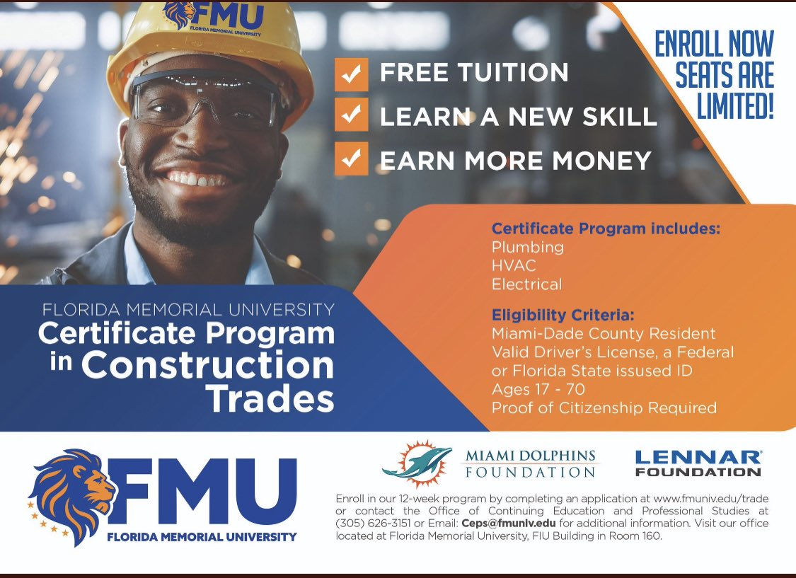 """Proud to announce the Miami Dolphins will be supporting this free program to give people a means of uplifting themselves and their families. """"Life's most persistent and urgent question is, what are you doing for others?"""" #MLKDay  Sign up today at"""