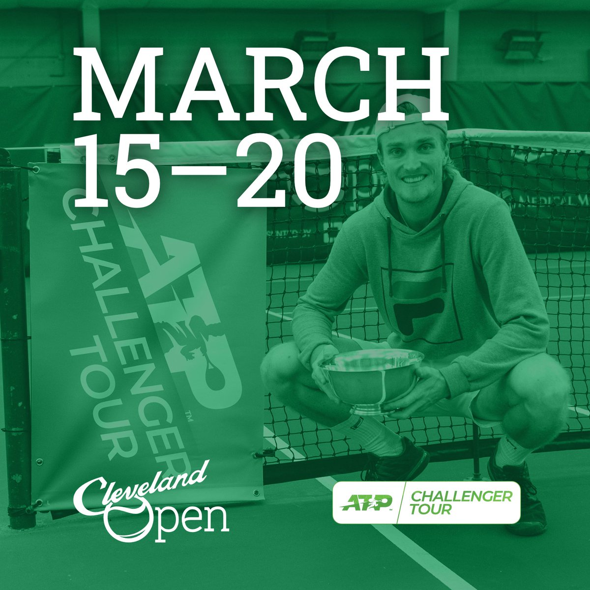 New dates, who dis? 👀  We'll be back in Cleveland March 15–20, 2021 for the third annual Cleveland Open. Get in touch at https://t.co/vZgtfOWjv7 to learn about our sponsorship opportunities!  #CLEChallenger #ATPChallenger #ATPChallengerTour #tennis @ATPChallenger https://t.co/riCEA9bc88