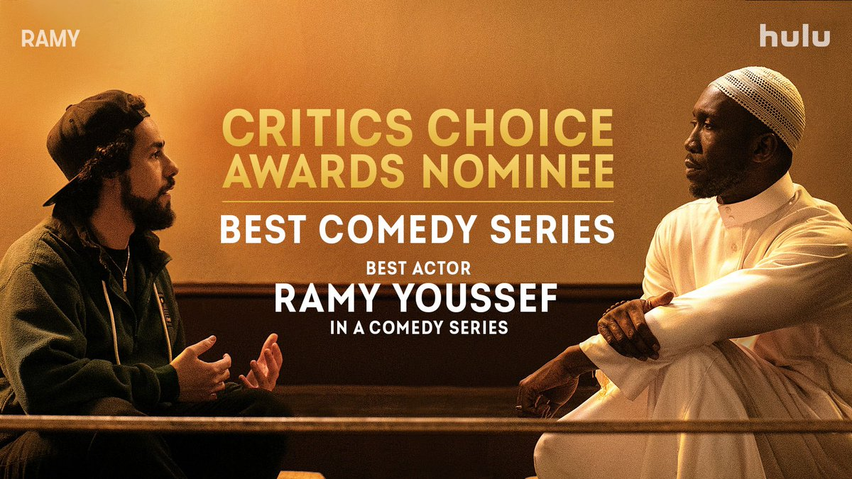 🎉 🎉🎉 Congrats to @Ramy for his @CriticsChoice nomination for Best Actor in a Comedy Series, and to #Ramy for the show's #CriticsChoice nomination for Best Comedy Series!