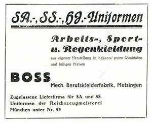 @TGBaudson @DiePolierer Oh ja!   Firmengründer @HUGOBOSS ist schon im April 1931 in die #NSDAP eingetreten, hat mit der Produktion von Uniformen für die #HJ, #SS und #SA den Konkurs seiner Firma abgewendet & seinen persönlichen Wohlstand gesteigert. Auch mit dem Einsatz von Zwangsarbeitern