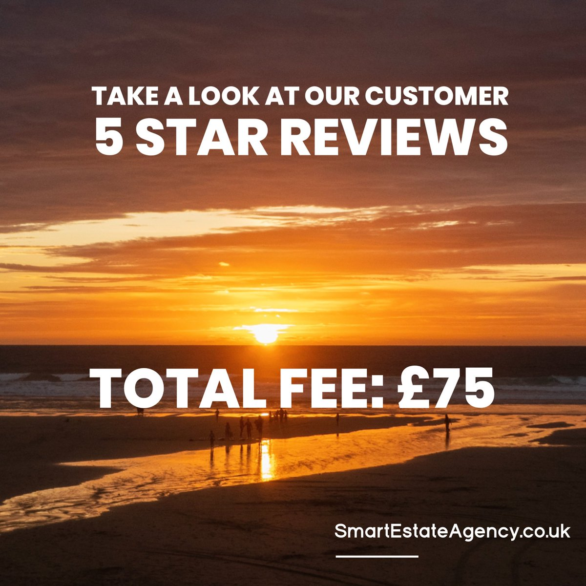 We are proud that our team are receiving 5* reviews from customers.  Our customers love our efficiency and the communication they receive but most importantly they love that our total bill is £75.  Let's get your home advertised on Rightmove for just £75   #Happycustomers #proud