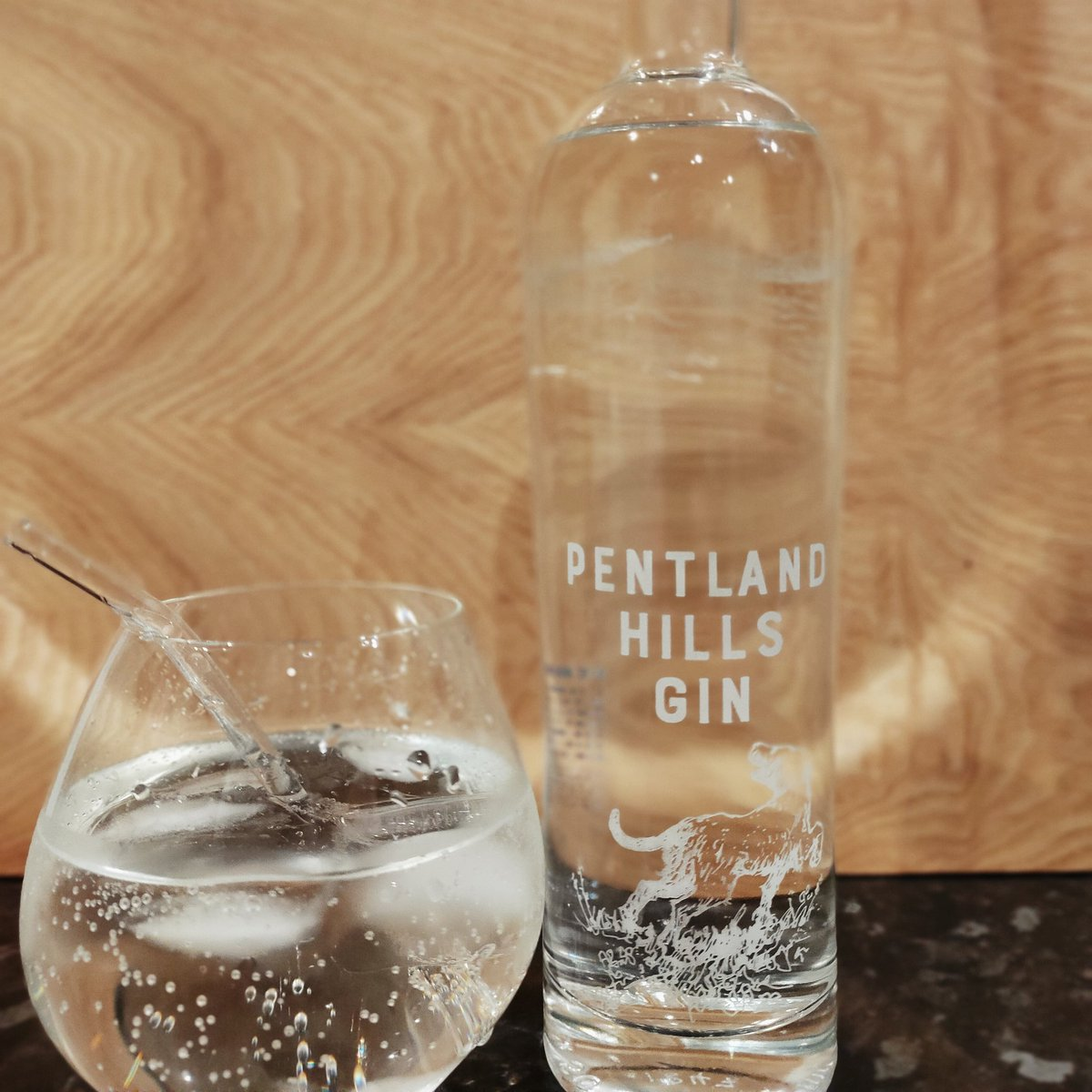 Deliciously refreshing end to a Monday with my first taste of @PentlandGin. And when it's done, I return my personalised #gin bottle for a refill, and get £10 off. #scottishgin