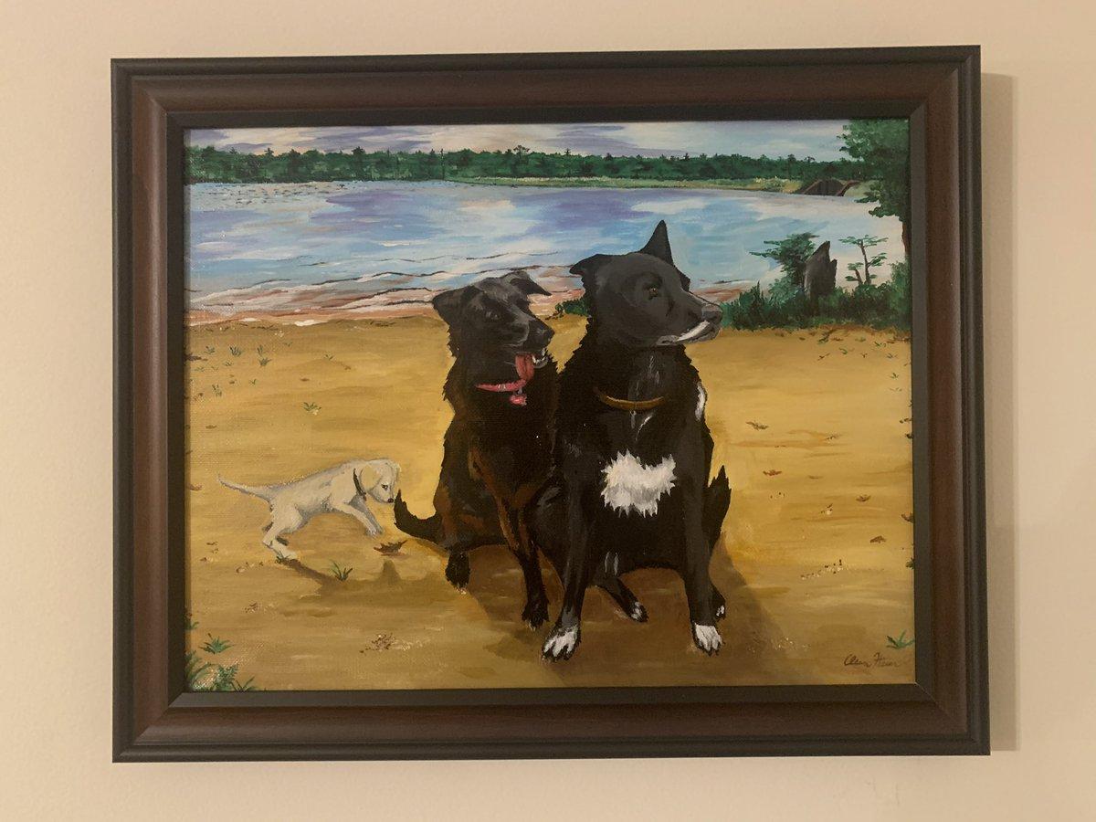 #art #dog #puppy #painting #artschoolproblems #landscape #LoveIsInTheAir18E