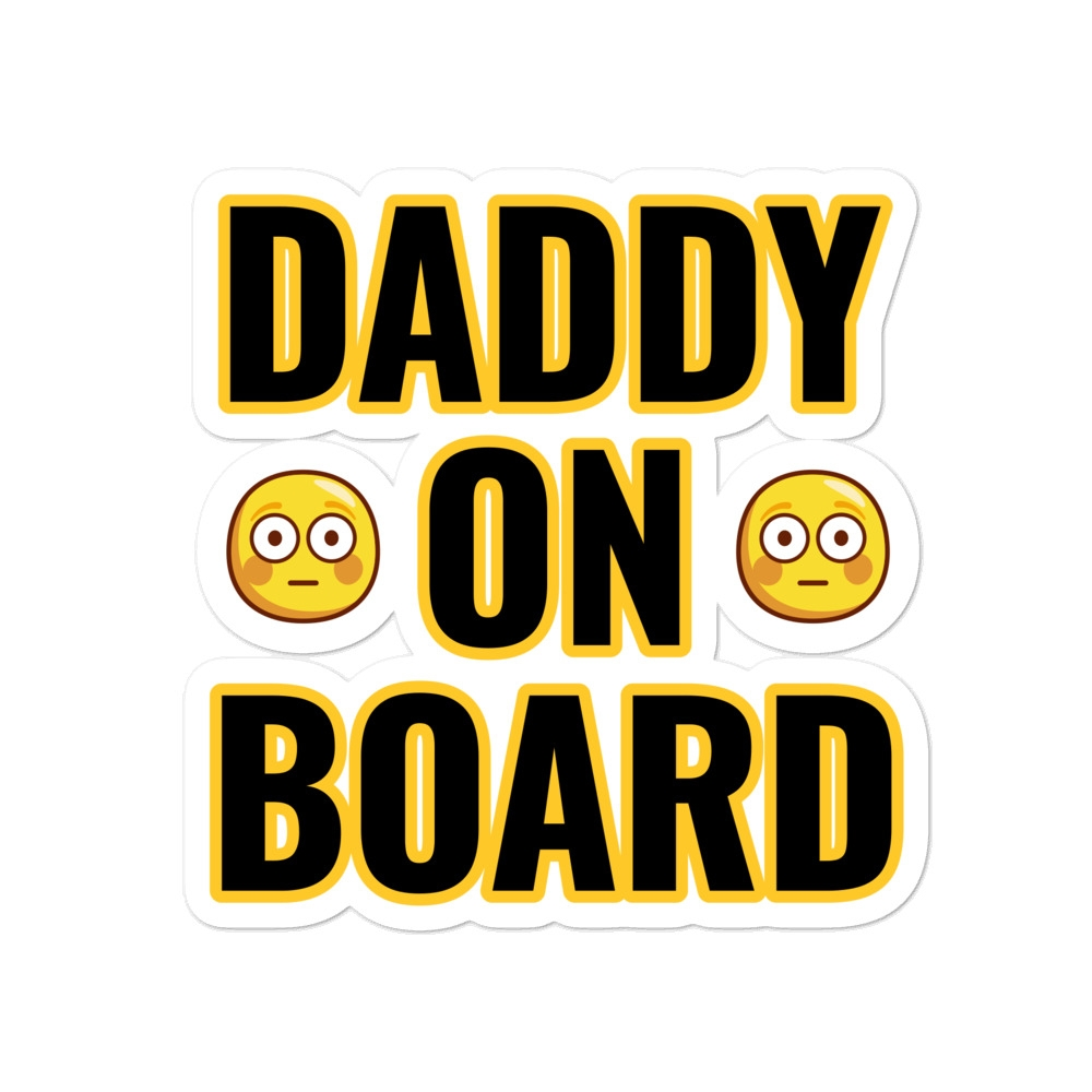 Daddy On Board - Funny Bubble-free stickers #Family#love #beautiful #cute #picoftheday #follow #followme #style #design #lifestyle #fashion #trending #mustbuy #shop #shopping #like4like #followforfollow