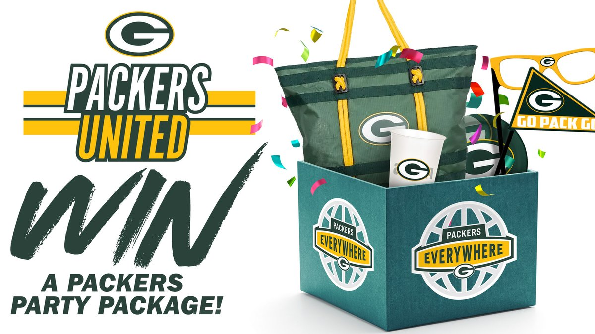 🎉 We want to help YOU get ready for Sunday's game by filling your house with green & gold! 🎉  Follow us and RT this tweet for your chance to win a #Packers Party Package courtesy of @UScellular!  Official Rules ➡️