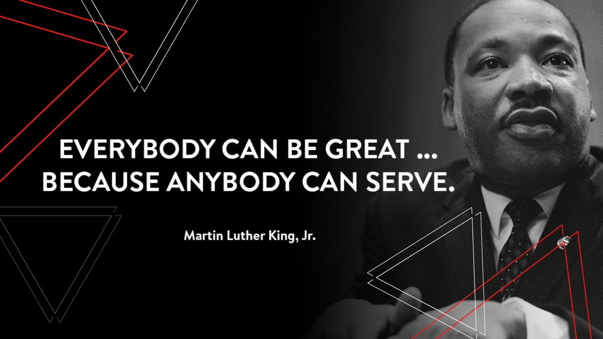 Let's all strive to find our greatness this year in the service of others.  #MartinLutherKingDay  #findyourgreatness #service #Inserviceofothers