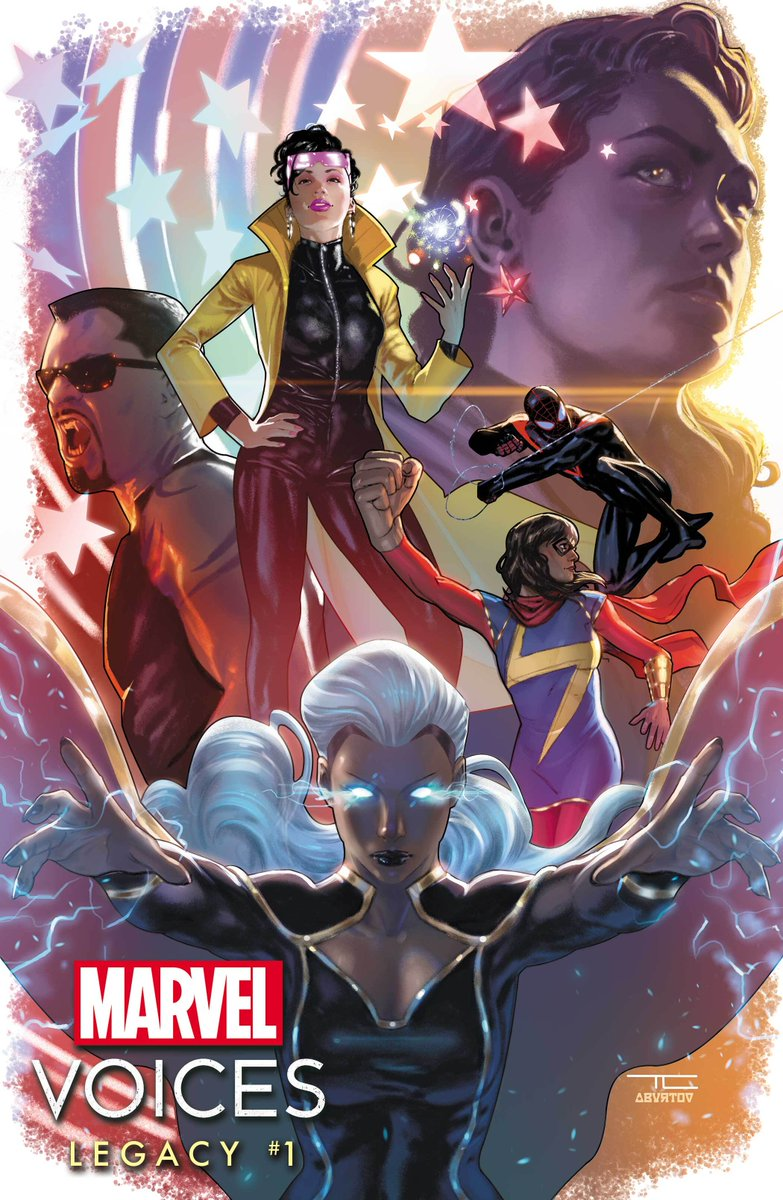 """""""Marvel's Voices: Legacy"""" #1 arrives this February! Join @AngeliqueRoche at @bcafcon today at 12PM PT to discuss heroes of color and their impact on the Marvel Universe:   Featuring: ✏️ John Ridley ✏️ @getnicced ✏️ @weredawgz  ✏️ @Steph_I_Will"""