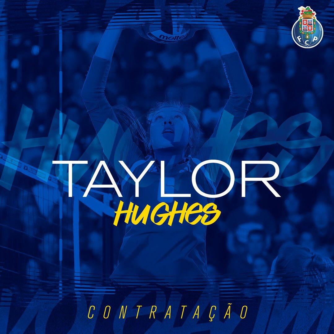 🔵🏐Bem-vinda, Taylor Hughes 🔵🏐 Welcome Taylor Hughes  👉24 anos 📍Distribuidora 🇺🇸EUA  #FCPorto #FCPortoVoleibol #Voleibol #AJMFCPorto #FCPortoSports