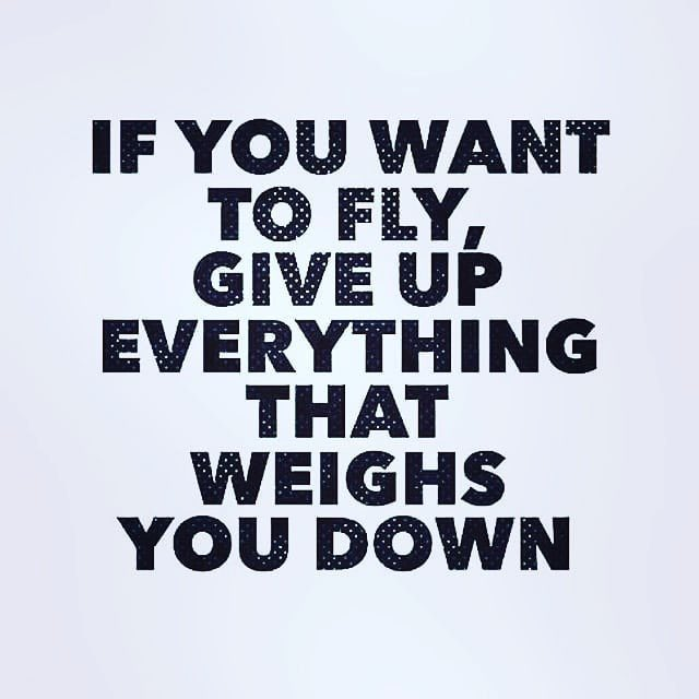"""""""If you want to fly, give up everything that weighs you down."""" #MondayMotivation 🙌🏽💪✊🏽💯"""