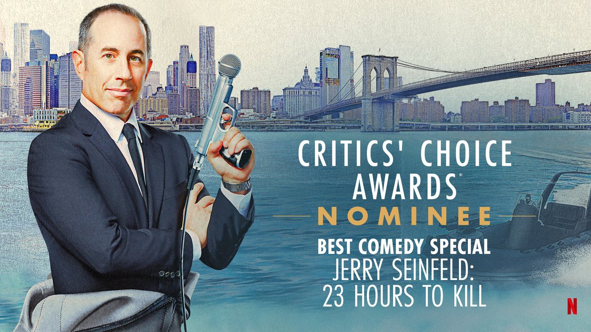 A true stand up guy! @JerrySeinfeld, is nominated for Best Comedy Special at the @CriticsChoice Awards!