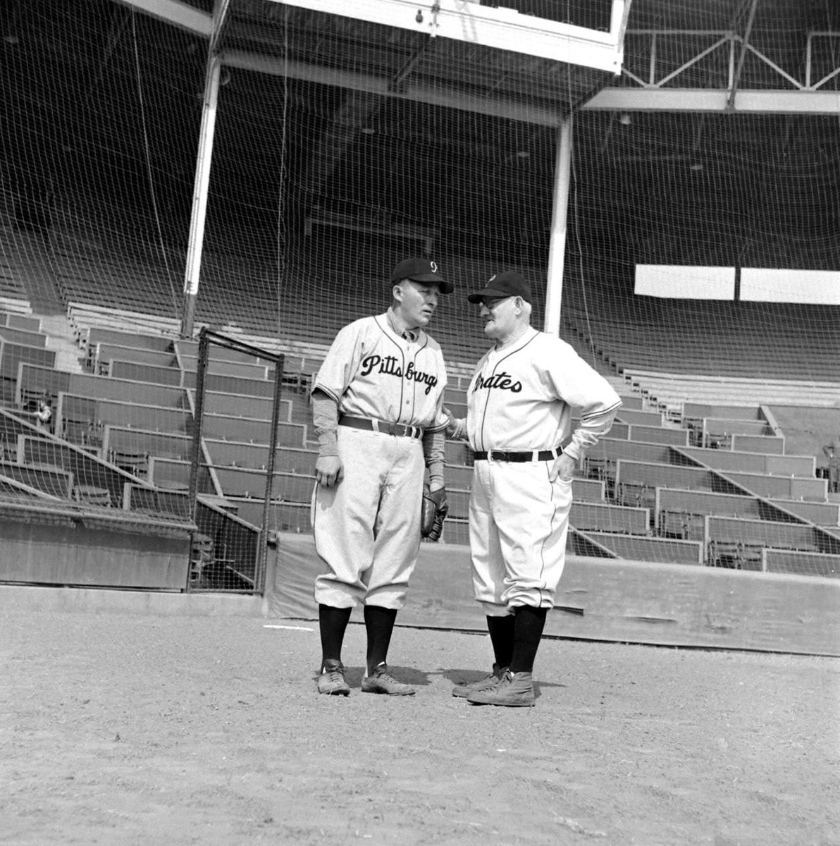 Bing Crosby and Honus Wagner. Bing was a minority stock-holder of the Pittsburgh #Pirates