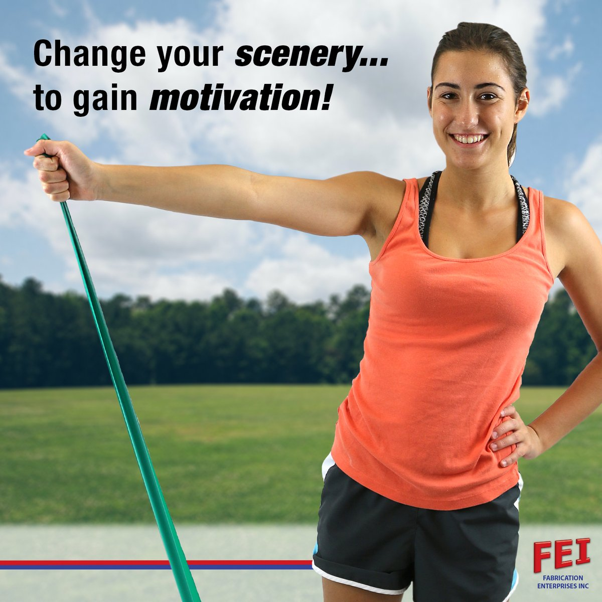 Are you looking for #motivation to workout? Try changing where you workout. A change of scenery can give you all the motivation you need!  #MondayMotivation #Fitness