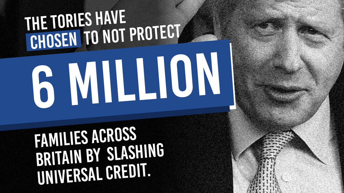 The Conservatives have chosen to cut support for families in the middle of a pandemic by slashing Universal Credit.  The UK has had the worst recession of any major economy on Boris Johnson's watch – now he is making families pay the price.  #CancelTheCut