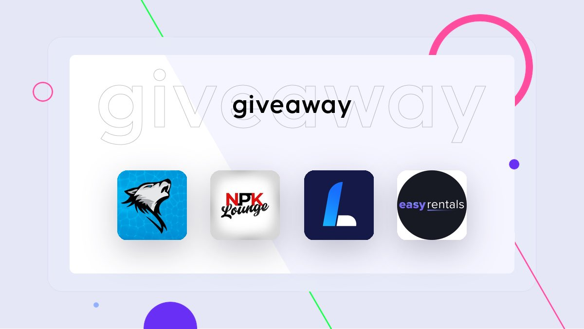 🚨 GIVEAWAY 🚨 Prizes 🎁 - 1x @AlphaCommsIO Free Month - 1x @NPKLounge Free Month - 2x 2GB Resi @LiveProxies - 1x 15% @EasyrentalsIO To Enter ⬇️ 1. Follow @AlphaCommsIO, @NPKLounge , @LiveProxies, & @EasyrentalsIO 🤝 2. Like ❤️ 3. Retweet ♻️ Ends in 48 hours GL 🥳