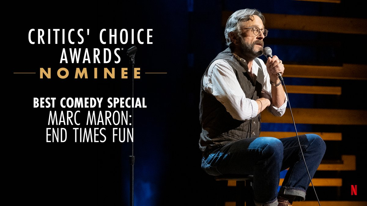 Good times in the End Times! @marcmaron is nominated for Best Comedy Special at the @CriticChoice Awards!