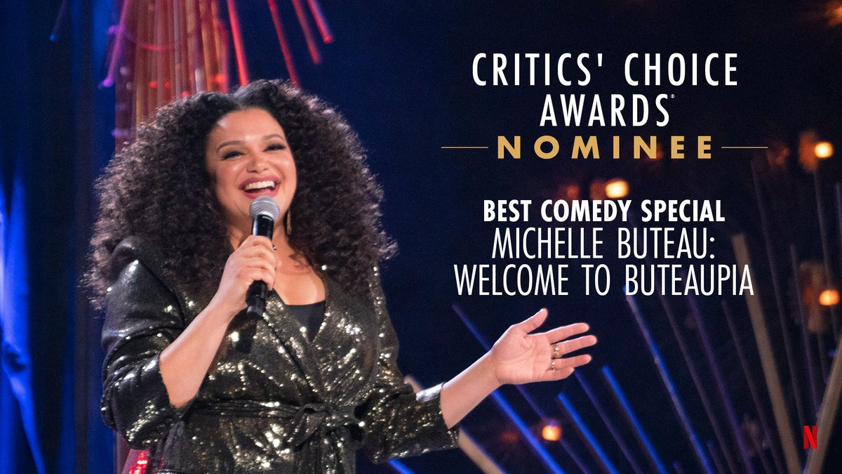Enjoying the view from Buteaupia! @MichelleButeau is nominated for Best Comedy Special at the @CriticsChoice Awards!