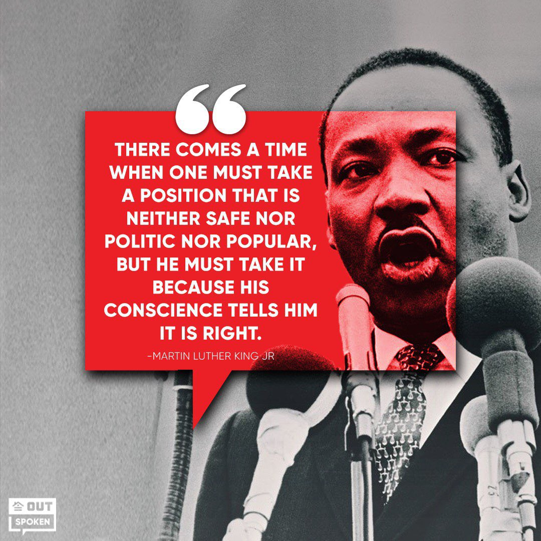Always take a stand for what you believe in. Happy #MLKDay
