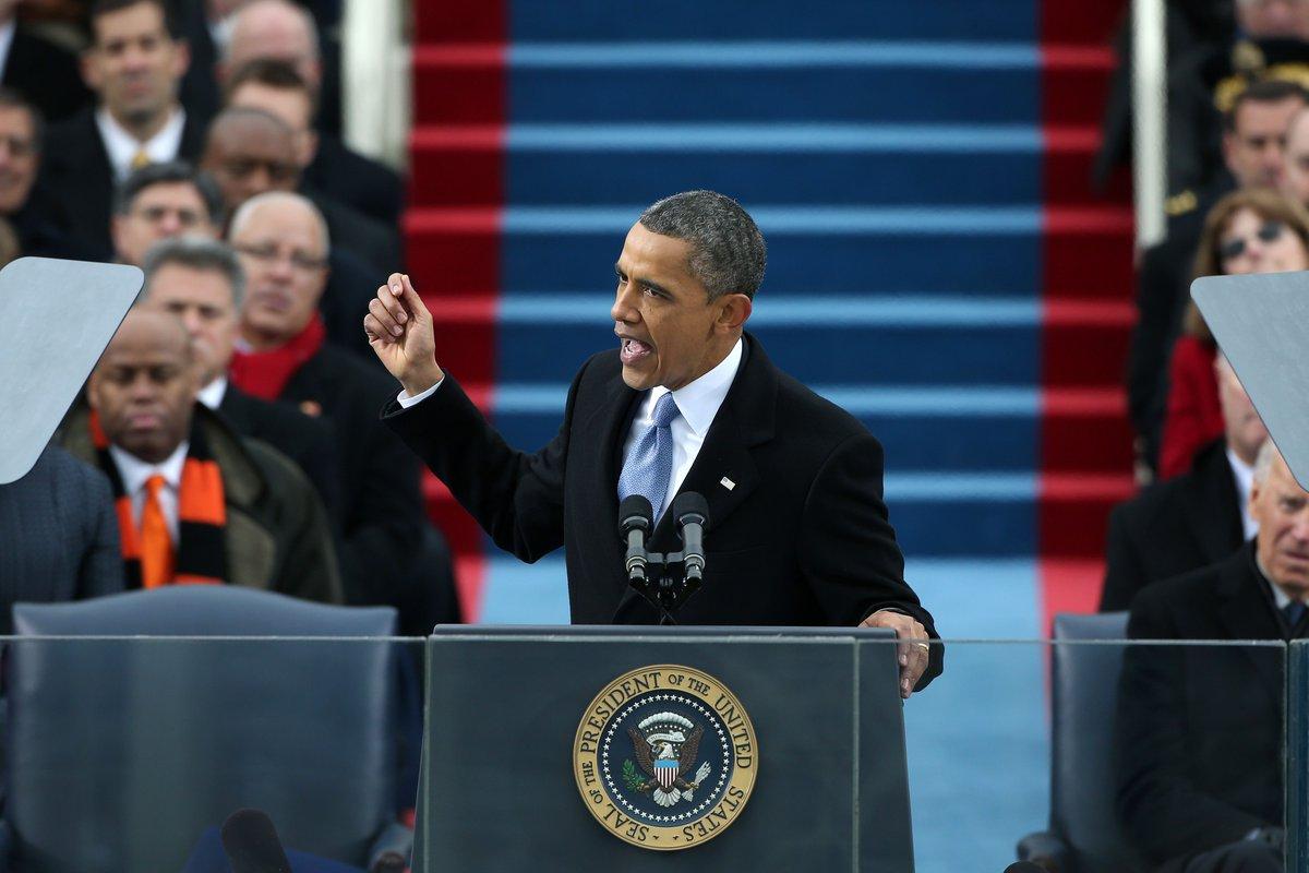 الخطاب الأول..  أقدم تقليد في يوم التنصيب، إذ إن أول من ابتكره هو الرئيس الأميركي «جورج واشنطن»، أول رئيس للولايات المتحدة. يوجه الرئيس الأميركي الجديد خطابًا من شرفة «#الكابيتول» للجماهير الموجودة أمام المبنى  5/7