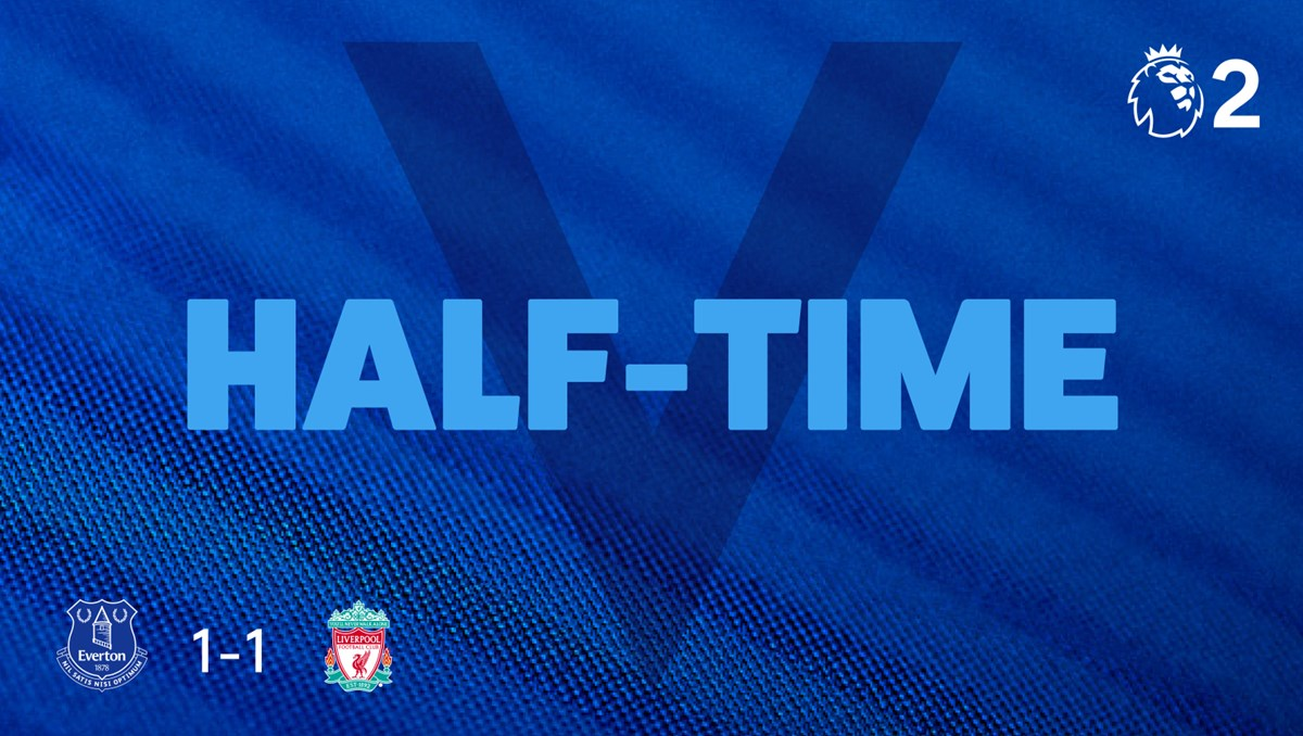 HT. All square at the midway point.   #PL2