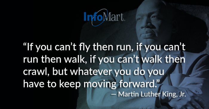 An important reminder during this difficult year. Our team would usually be out serving our community for #MLKDay. Today, we stay home to serve our community.