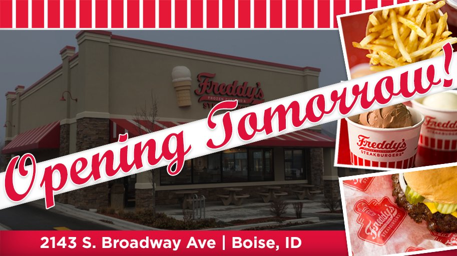 Boise, we open tomorrow at 10:30 a.m! We'll see you soon!