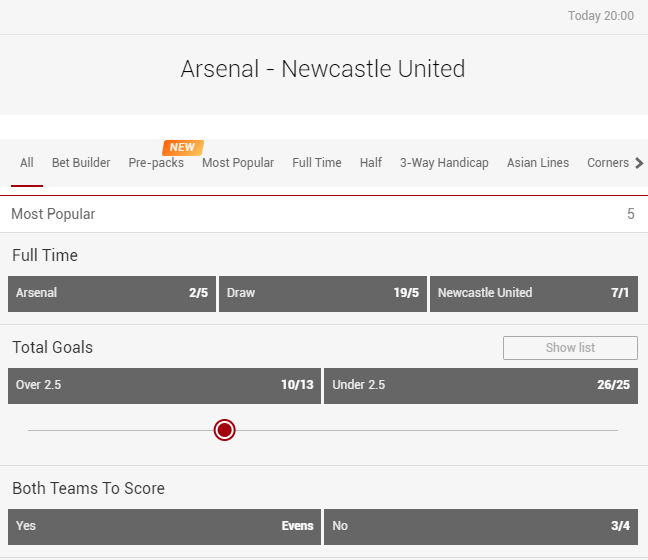 Arsenal host Newcastle in tonight's only #PremierLeague game 🕗  Can the Gunners extend their unbeaten run? 🤔  🔗  🔞  #ARSNEW | #PL