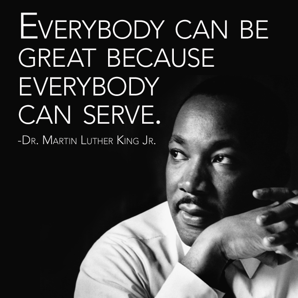 """Today we honor Dr. Martin Luther King Jr.'s legacy by recommitting ourselves to serving our community. Dr. King famously said, """"Everybody can be great because everybody can serve.""""   May everyone in our Habitat family join us today in honoring Dr. King's life of service. https://t.co/P9AAdtrr7O"""