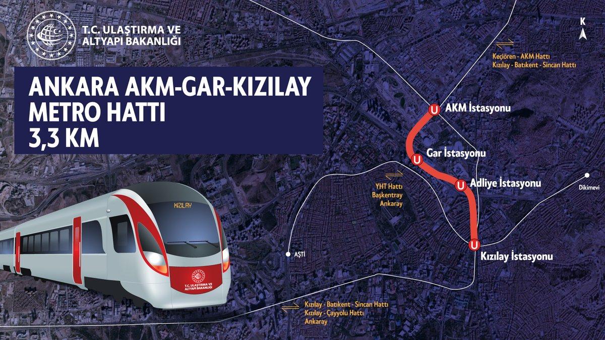 Şehir içi hareketliliğin konforlu, hızlı ve ekonomik hale gelmesi için hayata geçirdiğimiz projelere bir yenisini daha ekliyoruz.  #Ankara AKM-Gar-Kızılay Metrosu'nu Kızılay'a ulaştıracak Tünel kazılarına başlıyoruz.  🗓 19 Ocak 2021 📍Ankara