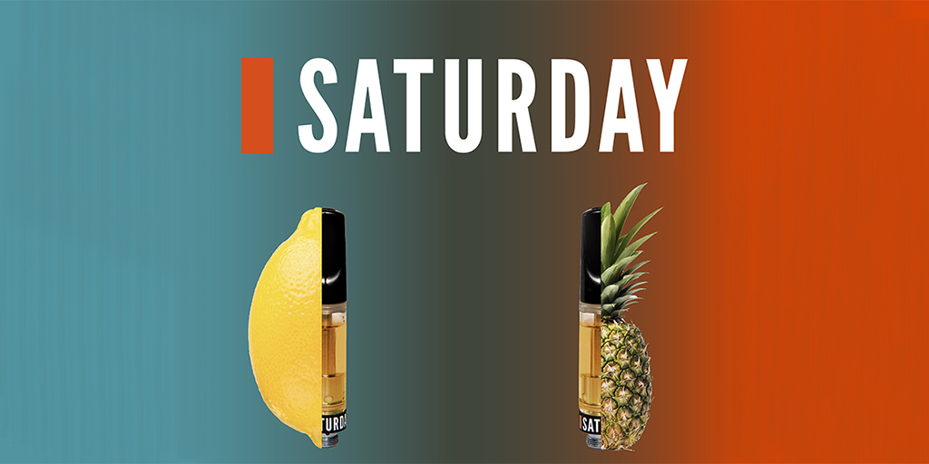 Take a seat, Monday – we're still thinking about Saturday. Especially today. Saturday Cannabis 510-thread vape carts in Sour Pineapple and Lemon Haze now available to check out at @ONCannabisStore. While you're at it, give @SaturdayCanna (new to Twitter!) a follow.