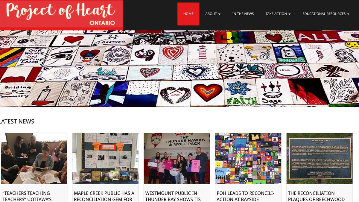 Check out this fabulous new website for Ontario teachers. Learners conduct their own investigations into history & legacy of Indian Residential Schools in Ontario. We❤️Project of Heart! @trublwithnormal @CaringSociety @nick_ngafook @tdsb @otffeo projectofheartontario.ca