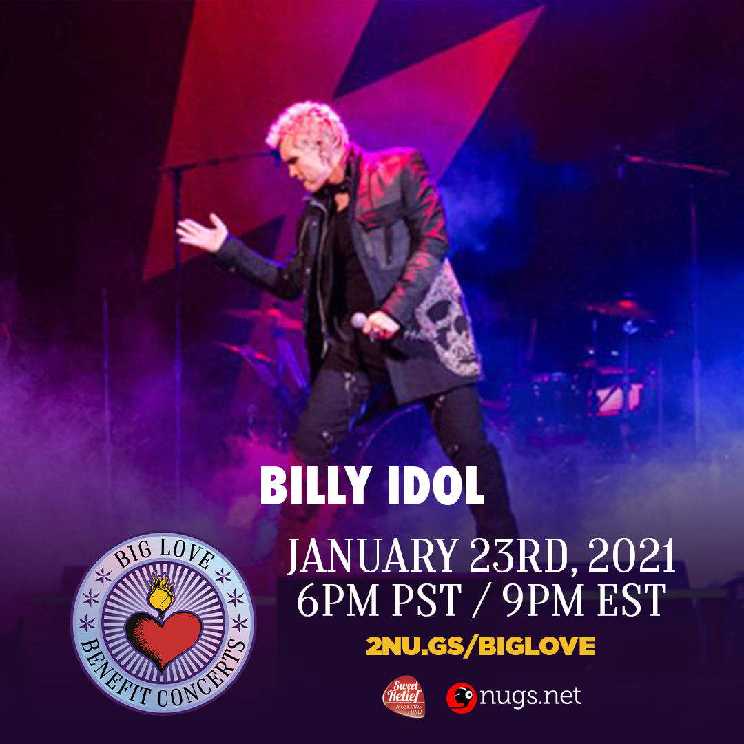 The Big Love Benefit Concert to help music industry pros is Saturday! Buy a ticket for $14.99 to see some great performances and appearances! Or get the VIP experience for $25 with a Zoom Meet & Greet after! Tickets: https://t.co/eq9LmiZ9Uh @BillyIdol  🤘 🙏 😍 https://t.co/y9TOXWrrIK