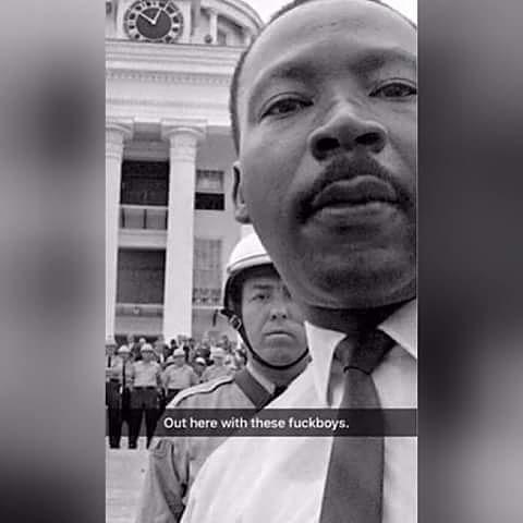 Ha Ha Ha #HappyMLKDay #MLK #MartinLutherKingJR #Monday #BLACKEXCELLENCE ⚡#ARIAS🤘🏾