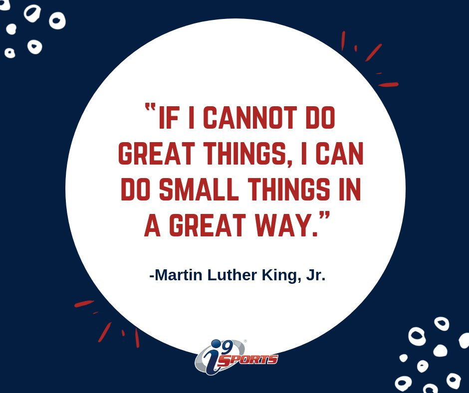 Together we can accomplish anything!💪  #i9sports #youthsports #mlkday #mlkjr #begreat