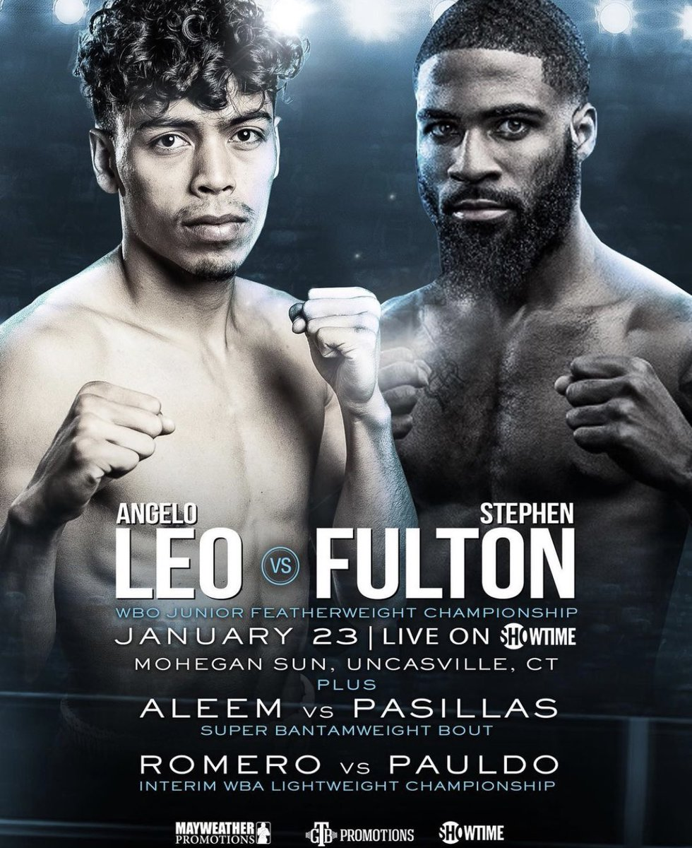test Twitter Media - 🗣 IT'S  🗣 FIGHT  🗣 WEEK!!! Albuquerque's WBO 122lb. champion, Angelo Leo takes on Philadelphia's Stephen Fulton Jr. this Saturday night live on @ShowtimeBoxing.   🎲 Current Odds:  Leo +130 Fulton -150 https://t.co/w6SiTEUeJG