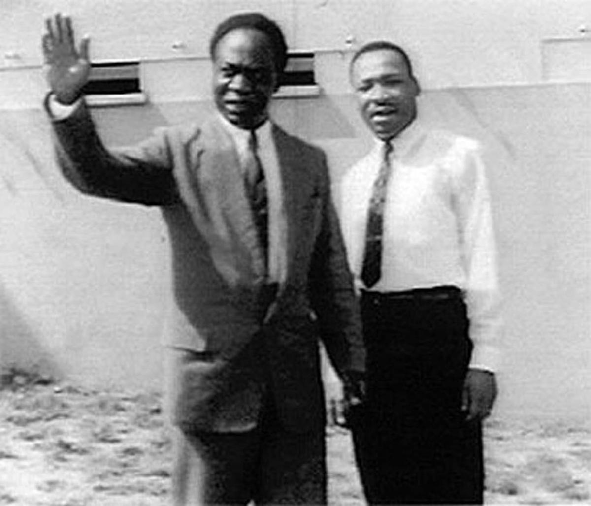 Kwame Nkrumah invited #MLKJr to Ghana's independence ceremony on 6 March 1957. The Black liberation struggle has always been a #PanAfrican project, either organized in direct ways or through ideological congruency. #PanAfricanismOrPerish