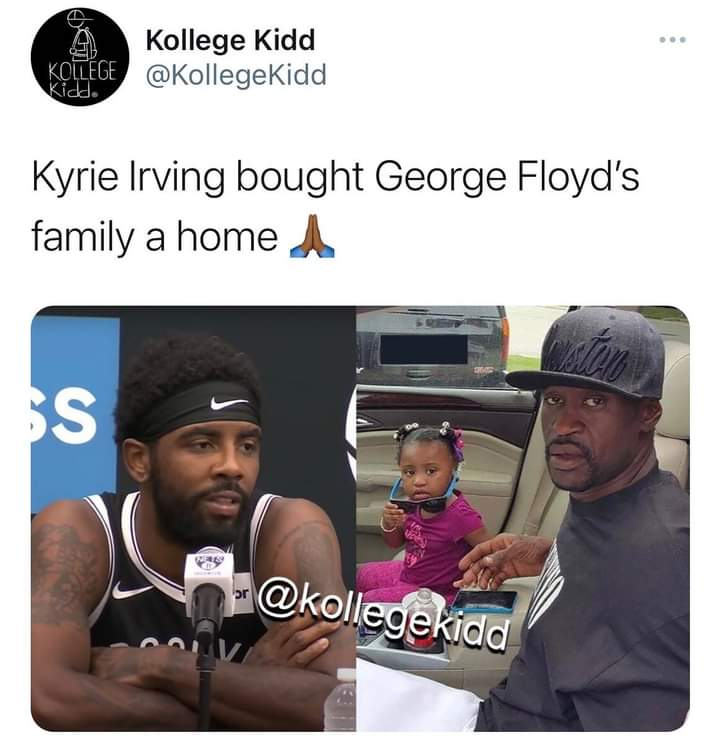 #KyrieIrving have warm love heart god bless hem @BrooklynNets #NBA #MartinLutherKingJr #MartinLutherKingJrDay #BlackLivesMatter #rt #Trending