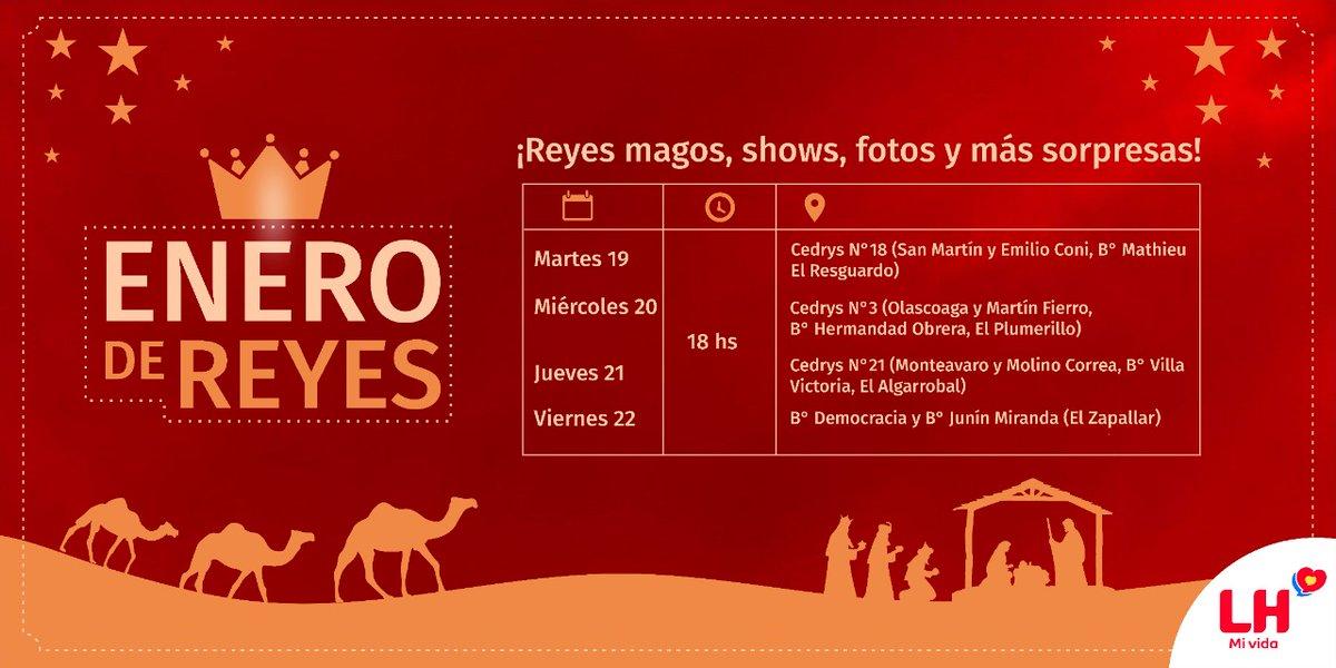 🌟 En Las Heras Enero es de los #ReyesMagos!!! 🎁🙋♀️🙋♂️🐫🤴. Melchor, Gaspar y Baltazar nos acompañan con muchas ganas de compartir con las familias de hermosos momentos! Mirá la agenda del recorrido de Los #ReyesMagos❗‼ Show, fotos y más sorpresas!!!