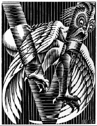 Initial V, 1931 #expressionism #mcescher