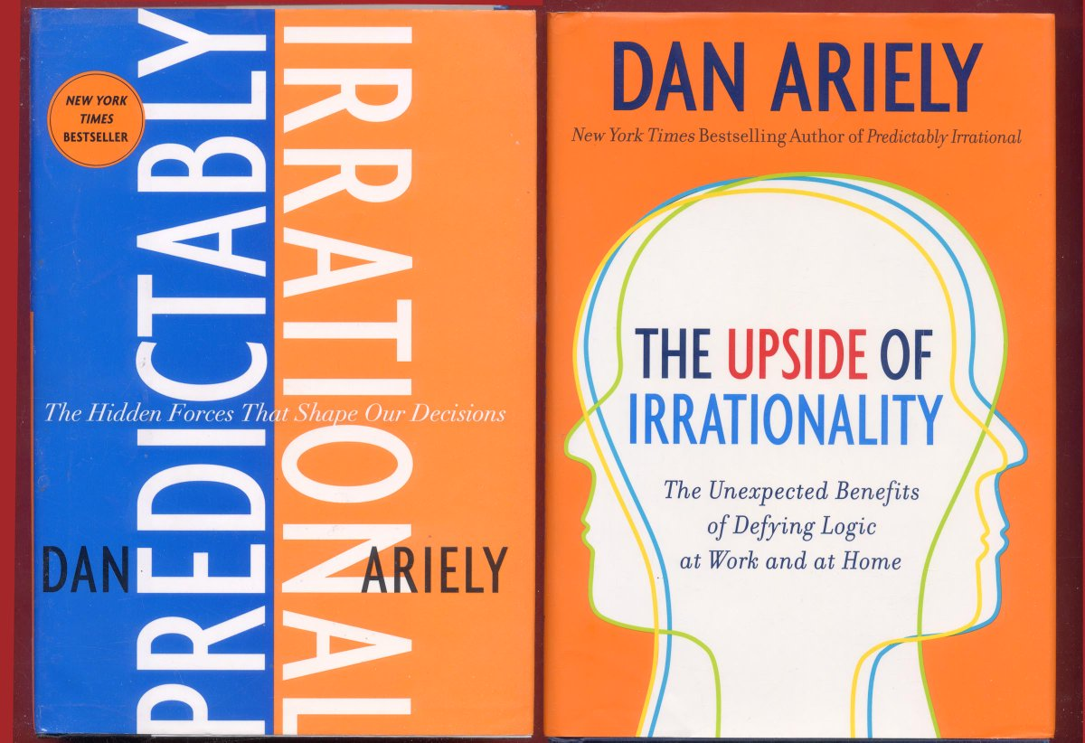 2 Dan Ariely books: Predictably Irrational + The Upside of Irrationality #DanAriely #PredictablyIrrational #BehavioralEconomics #UpsideOfIrrationality #MakingGoodDecisions #TheUpsideOfIrrationality -Free Shipping