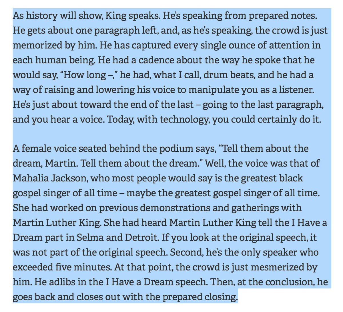 The remarkable story of the I Have A Dream Speech . . .  #thankyou @timferrisssays @GeorgeRaveling #MLKJr