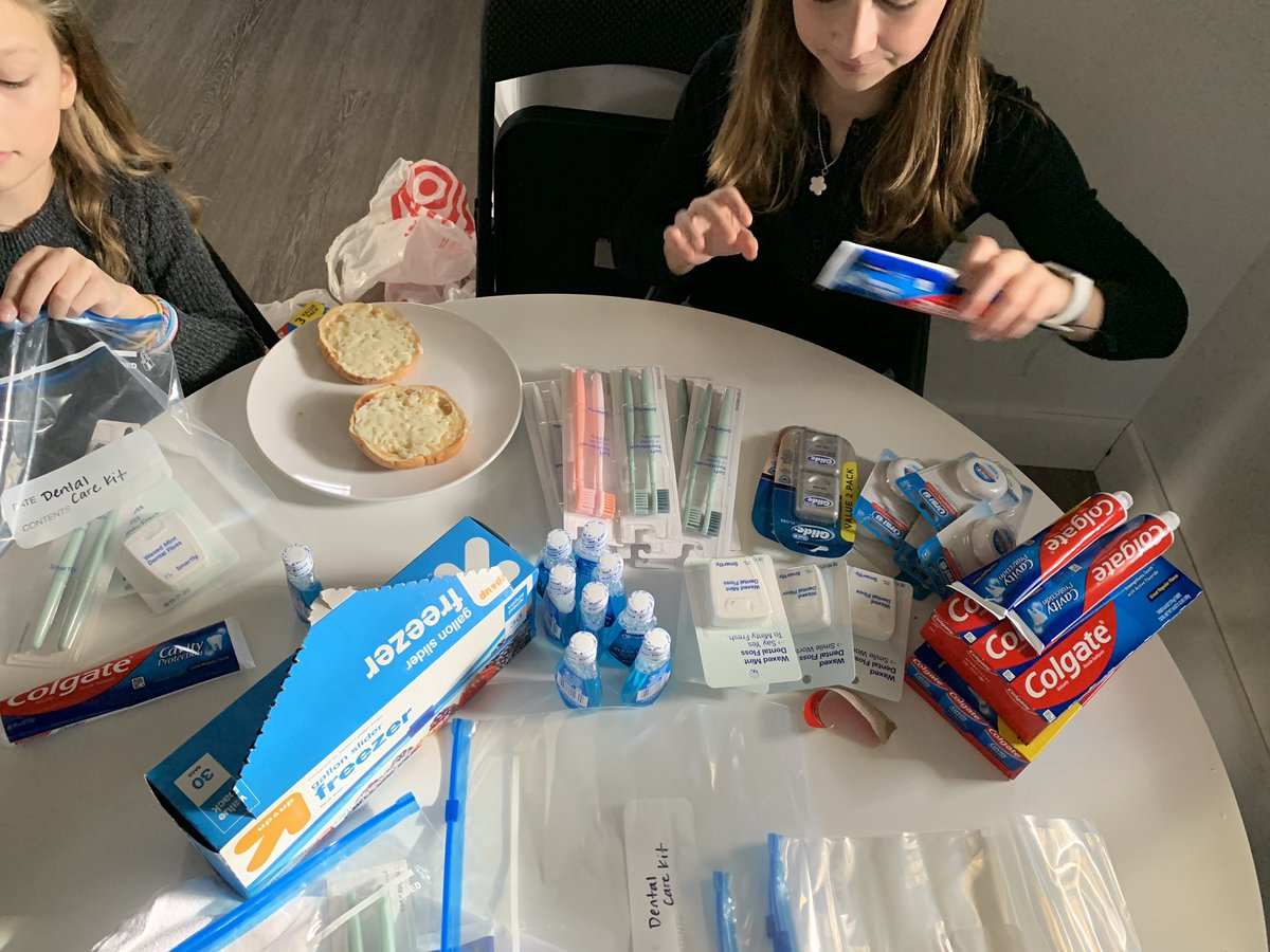 I'm a Fairfax County, VA @MomsDemand volunteer and together with my 13 and 10 year old daughters we packed and delivered Dental Care Kits for @SHAREMcLean for the @BidenInaugural #DayofService. For more information, visit:  ❤️
