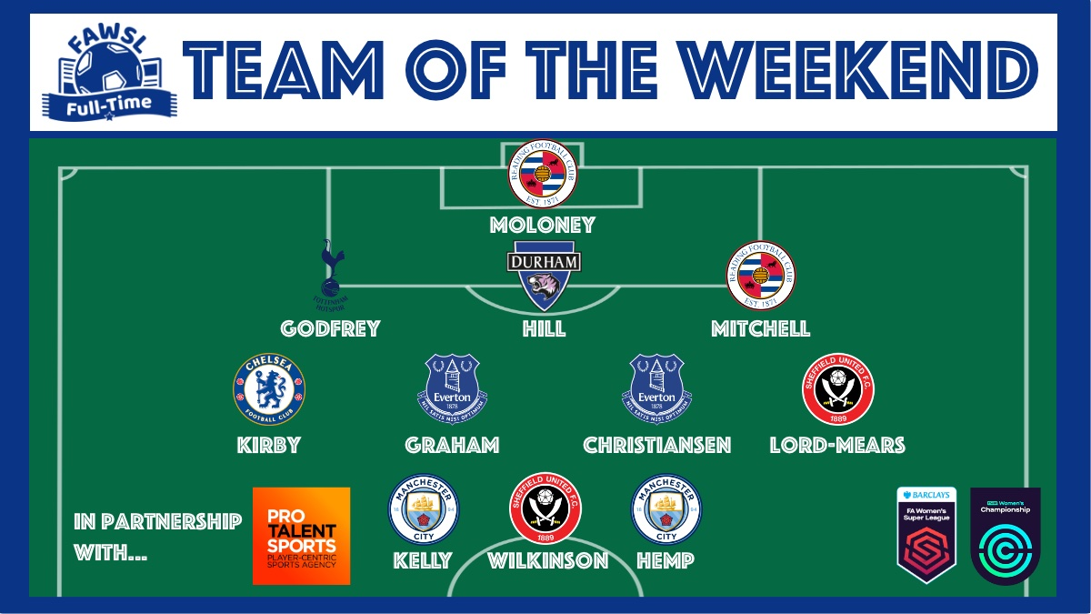 TEAM OF THE WEEKEND: Here is our Team of the Weekend. Well done to those players who made our XI! #FAWSL #FAWC