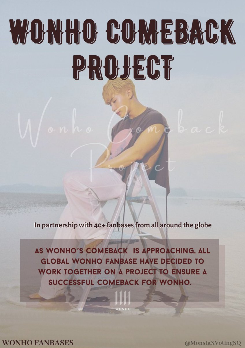 ‼️ WONHO COMEBACK PREPARATIONS ‼️  To give wonho his 1st win upcoming comeback, we need to start preparing already, please donate if you can or start sharing 🙏  Comeback pool:  Paypal:  KTown4U: